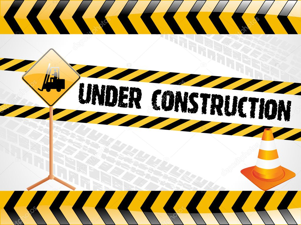 Vector illustration for under construction with isolated traffic-cone  Stock Vector #2230869