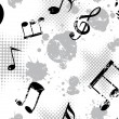 Musical notes on grungy spot background — Stock Vector #2242064