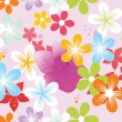 Vector colorful blooms wallpaper - Stock Vector