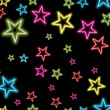 Colorful star on black background — Image vectorielle