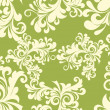 Royalty-Free Stock Vector Image: Green background with floral pattern