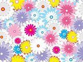 Kleurrijke bloemen behang — Stockvector