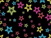 Colorful star on black background — Vecteur