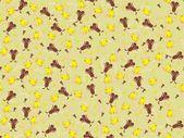 Vector cute animal wallpaper — Stock Vector