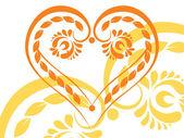 Pretty heart-shape tattoo — Stock Vector