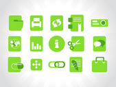 Vector green icons element — Stock Vector