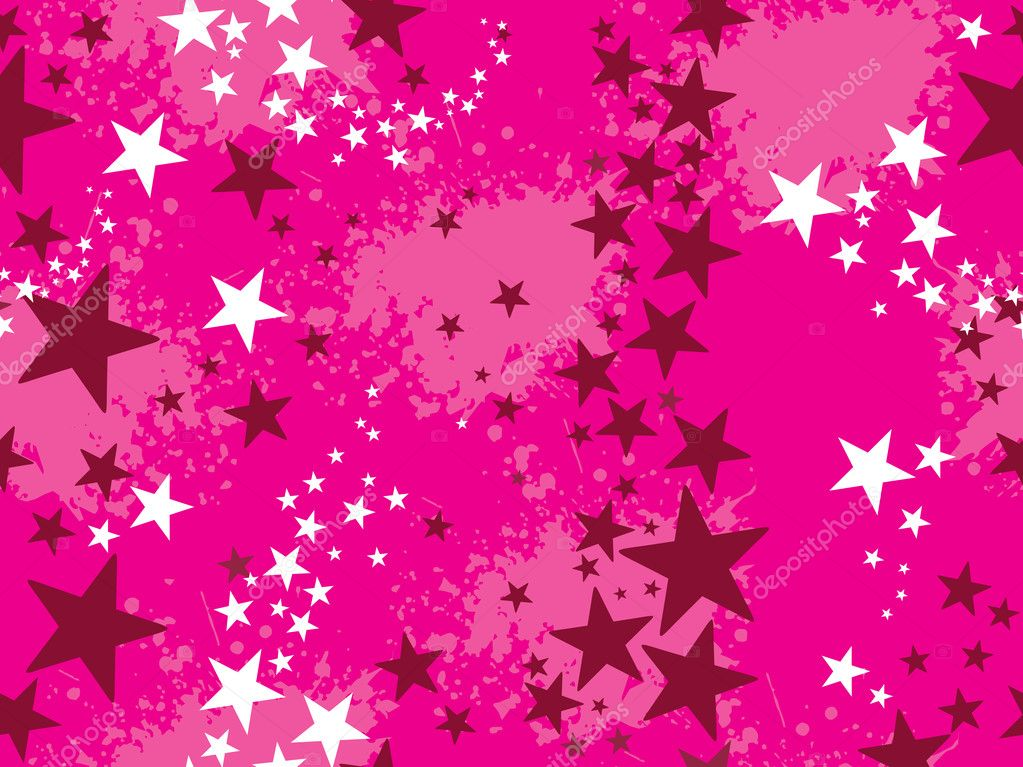 Abstract pink grungy background with star — Stock Vector #2242166