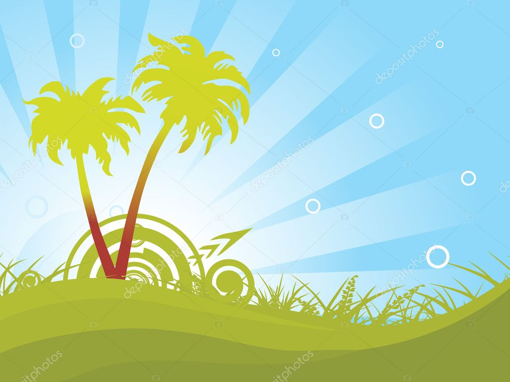 abstract summer background wallpaper � stock vector