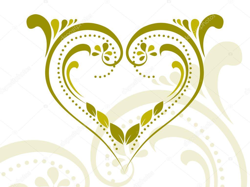 design flower heart tattoo