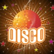 Background with wave, disco ball — Stock Vector #2278705