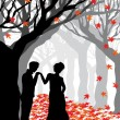 Illustration of romantic background — Stockvectorbeeld