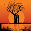 Illustration of romantic background — Imagens vectoriais em stock