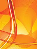 Disegno astratto di linee arancioni — Vettoriale Stock