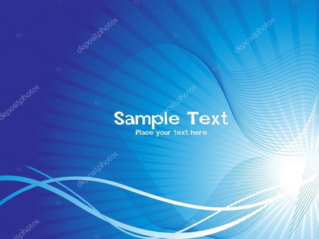 Abstract rays background with wave, illustratuion vector  Stock Vector #2273936