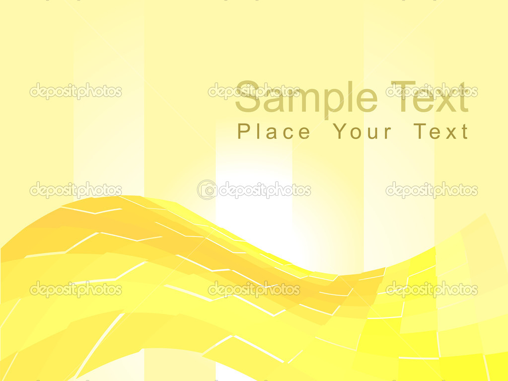 Abstract yellow waves composition — Stock Vector #2274564