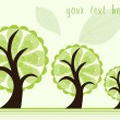 Royalty-Free Stock Vector Image: Set of three green tree