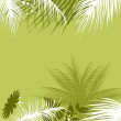 Palm tree with flower — Stock Vector