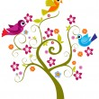 Vector decor tree illustration - Stockvectorbeeld