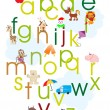 Alphabet concept background - Stock Vector