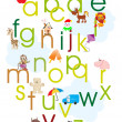 Alphabet concept background — Imagen vectorial