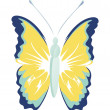 Isolated butterfly - Stock Vector