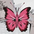 Background with butterfly - Stock Vector