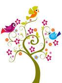 Vector decor tree illustration — Stock Vector