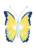 Isolated butterfly — Stock Vector