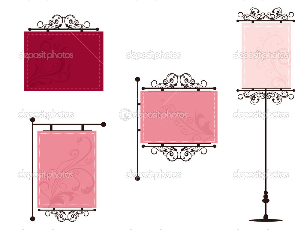 Abstract design set of frames illustration — Stock Vector #2281437