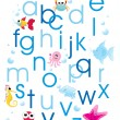 Stock Vector: Abstract alphabet background