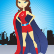 Super woman illustration - Stock Vector