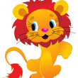 Royalty-Free Stock Vector Image: Isolated lion image illustration