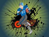 American football player running — Stockvektor