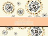 Creative floral design background — Stock Vector