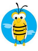 Vector illustration honeybee — Stock Vector