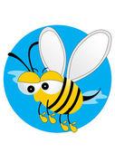 Illustration honey bee — Stock Vector