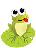 坐在青蛙图 — 图库矢量图片