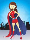 Super woman illustration — Stock Vector