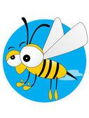 Fundo com abelha — Vetorial Stock