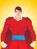 Superhero vector illustration — Stock Vector