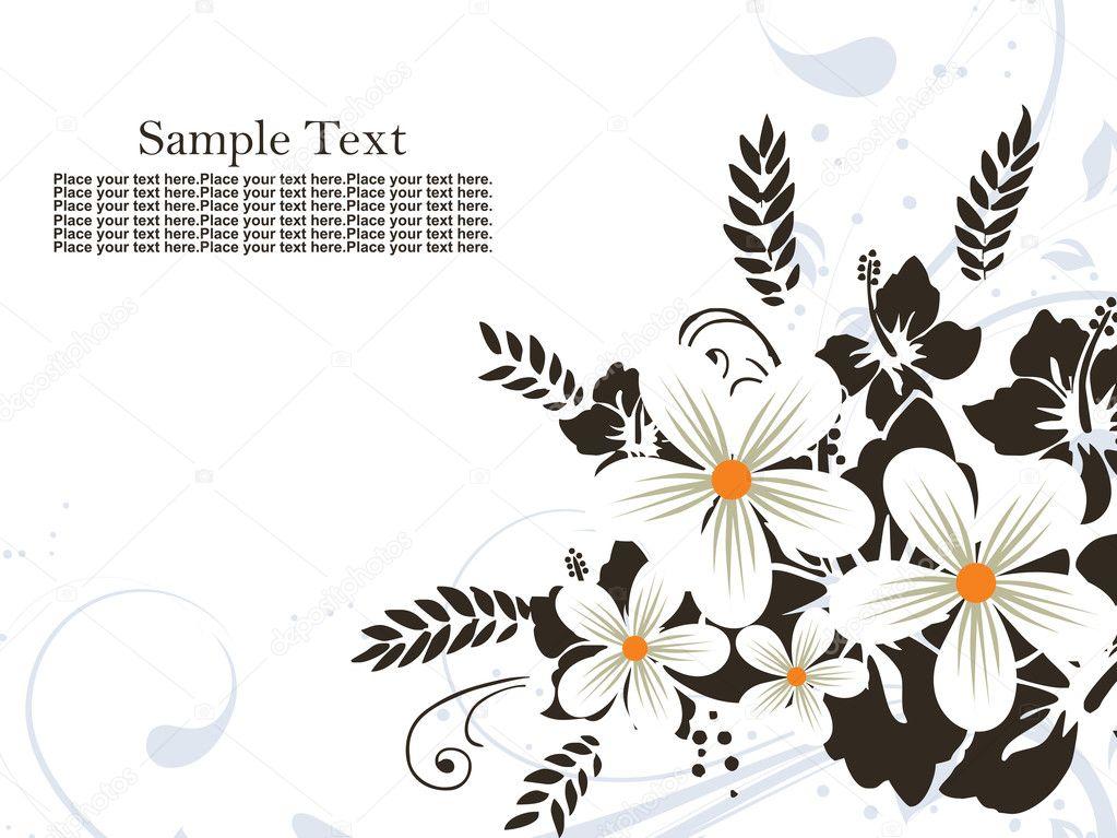 Flower Vector Black And White Black And White Flower Pattern
