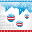 Royalty-Free Stock Obraz wektorowy: Hanging balls with us background