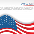 Us flag on white background — Stock Vector