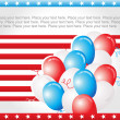 Us independence day card — Stock Vector