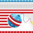 Royalty-Free Stock Obraz wektorowy: Us background with decor ball