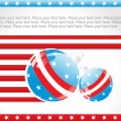 Us background with decorated ball — Stock Vector