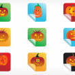 Stock Vector: Abstract halloween sticker series set3