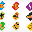 Stock Vector: Abstract halloween sticker series set6
