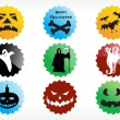 Stock Vector: Abstract halloween sticker series set1