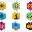 Stock Vector: Abstract halloween sticker series set8